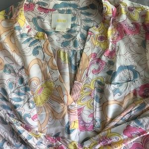 Anthrologie Watercolor Patterned Blouse